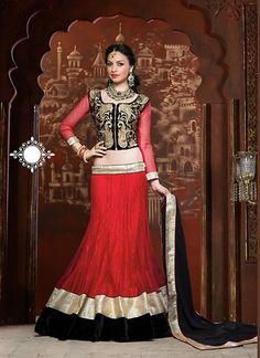 Red Net Lehenga Choli Online ,Indian Dresses