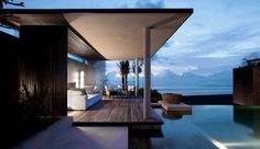 Alila Villas Soori: Ocean Pool Villas are like private complexes with a living area, separate daybed and pool.
