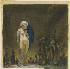 Admiration František Kupka(Czech, 1871–1957) (c. 1899). Gouache, charcoal, watercolor, crayon, and pastel on paper MoMA