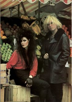 *The Gun Club: Patricia Morrison and Jeffrey Lee Pierce, 1982 Soft Grunge, Photo Album Printing, Patricia Morrison, Jeffrey Lee, Rock Revolution, Goth Bands, Goth Subculture, Sisters Of Mercy, Horror