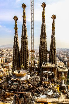 Sagrada Familia Church Barcelona - ive been here- it was still being built but it was only about 8 years ago. it was incredible