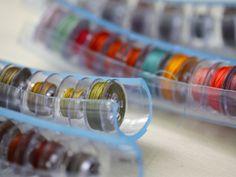 Unterfadenspulen Aufbewahrung by zutaten, via Flickr