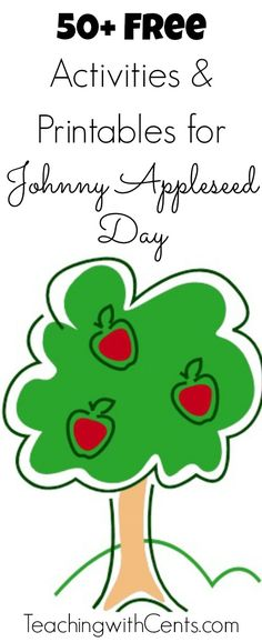 Free Activities and Printables for Johnny Appleseed Day