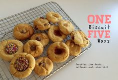 One Biscuit : Five Ways - School Mum Biscuit Cookies, Biscuit Recipe, Golden Syrup, Baking Recipes, Baking Ideas, Kids Meals, Biscuits, Sweet Tooth, Bakery