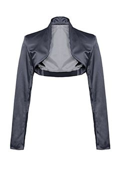 Elegant Satin Long Sleeve Bolero Jacket 34 36 38 40 42 44 in Various Colours -  Grey - 14 GIOVANI & RICCHI http://www.amazon.co.uk/dp/B00S6RUV30/ref=cm_sw_r_pi_dp_KKCbwb1X1Z5V1