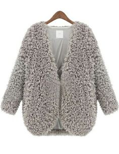 wooly cropped coat
