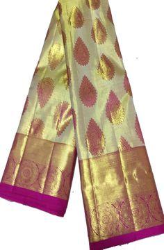 Buy Golden Handloom Kanjeevaram Pure  Silk  Saree-/LWKPSRAM38_Golden_Handloom_Kanjeevaram_Pure_Silk_Saree1.jpg