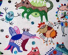 Great artist, inspiring needle work. Textile work (85x95sm.) Styky bryky on Behance