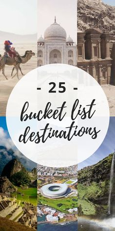 Here are 25 gorgeous bucket list destinations you're going to want to see for yourself. #bucketlist #travel