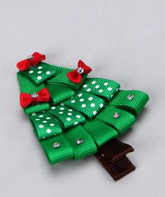 Holiday Tree bow...for hair, gift tag, ornament...lots of possibilities