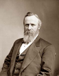 Rutherford B. Hayes (4/10/1822 - 17/1/1893) was the 19th President of the United States 4/3/1877 - 17/1/1881)