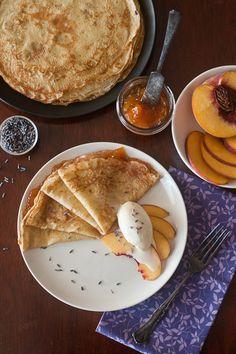 Peach Lavender Crêpes (Sweet Treats: a baking blog)