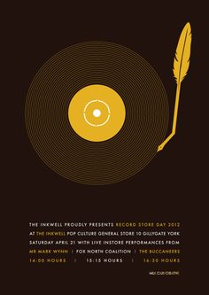 Record Store Day poster by Milk Club Creative, for 'The Inkwell' record store in York