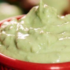 Avocado Cream Sauces, Avocado Ice Cream, Avocado Crema, Avocado Dip, Mashed Avocado, Ripe Avocado, Chimichurri, Food Network Recipes, Cooking Recipes