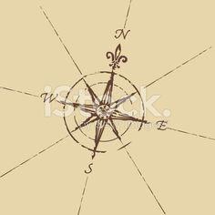 Arte vectorial de stock royalty-free Vento Rosa-dos-ventos