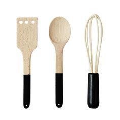 Kitchen Utensils - Set of 3 Design Letters Children- A large selection of Design on Smallable, the Family Concept Store - More than 600 brands. Kitchen Utensil Set, Ikea Kitchen, Cooking Spoon, Cooking Tools, Cooking Utensils, Kitchen Helper, Lettering Design, Design Letters, Little Kitchen