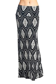 82 Days Women'S Poly Span Various Prints Maxi Skirt - F39…