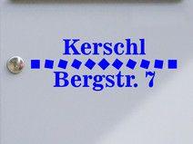 Adresse 04 - Briefkastentattoo - Wunschtext