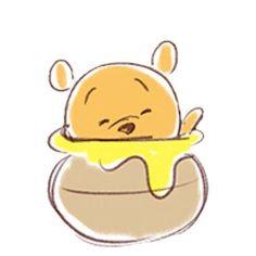 Winnie the pooh cartoon character sooo cute and adorable 💚😊 Winnie The Pooh Cartoon, Cute Winnie The Pooh, Winne The Pooh, Winnie The Pooh Quotes, Winnie The Pooh Friends, Cute Disney, Baby Disney, Disney Drawings, Cute Drawings