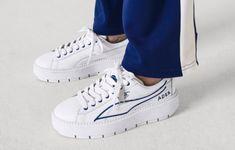 PUMA x ADER ERROR Platform Trace Women s Sneakers Color Puma White-Surf The  Web 863fd0f8d