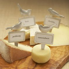 4 Bird Cheese Markers  by Beehive Kitchenware Co.