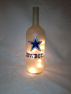 Pintado Dallas Cowboys reciclado botella de por 1stStateSassyGlass