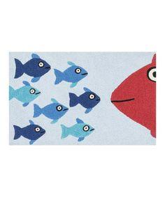 Another great find on #zulily! Blue & Orange Fish Angelou Rug #zulilyfinds