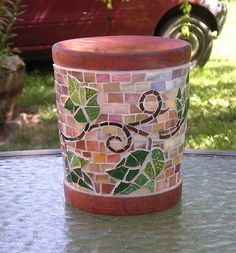 flower pot mosaic by anne