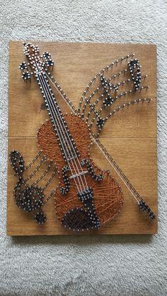String Wall Art, Nail String Art, String Crafts, Rock Crafts, Arts And Crafts, String Art Templates, String Art Tutorials, String Art Patterns, Thread Art
