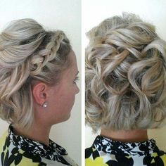 Short curly braided hairstyle