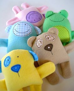 dog Rag Doll Patterns to Print | 16cm Baby Animals - Instructions are included to make a teddy, panda ...