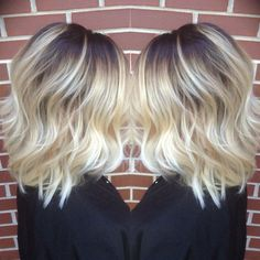Dark roots into light ash! Done by me!