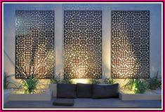 Pergola Above Garage Door Outdoor Art, Outdoor Walls, Outdoor Lighting, Lighting Ideas, Wall Lighting, Easy Garden, Indoor Garden, Garden Art, Garden Plants