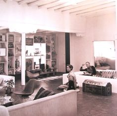 See many #Eames chairs in #alexandergirard's Santa Fe home