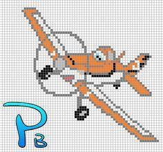Dusty Planes perler pattern - Patrones Beads / Plantillas para Hama