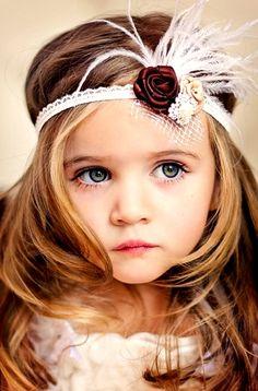 #Beautiful #childphotography precious little girl ToniK ~•❤• Bébé •❤•~ Flapper #Gatsby headband fkids.ru