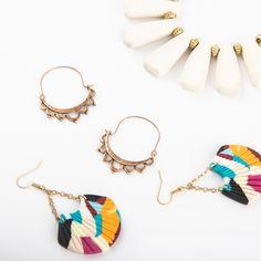 September 2020 Plunder Posse Wood Necklace, Tassel Necklace, Plunder Design, Gold Beads, Vintage Inspired, September, Fashion Jewelry, Hoop Earrings, Bling