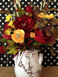 Shabby Chic Summer Floral Arrangement by ThePetalHouse on Etsy