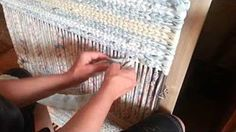 How to Warp a Twining Loom - YouTube