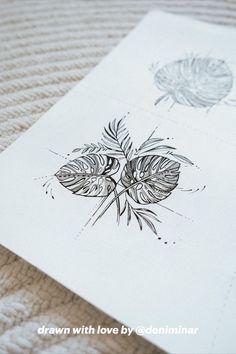 Earthy Tattoos, Nature Tattoos, Body Tattoos, Cute Tattoos, Sleeve Tattoos, Tropical Flower Tattoos, Tattoo Set, Tiny Tattoo, Piercing Tattoo