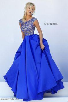 Sherri Hill 32359 Cap Sleeve Evening Dress