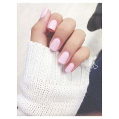 baby/light pink perfect nails