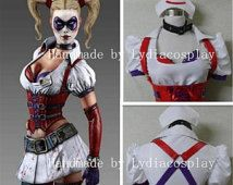 Handmade - Harley Quinn Costume, Harley Quinn Cosplay, Harley Quinn Dress Adult/Kids Available