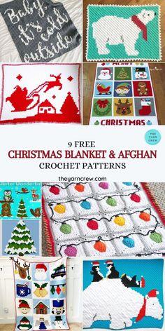 Christmas Crochet Blanket, Christmas Afghan, C2c Crochet Blanket, Christmas Yarn, Christmas Crochet Patterns, Holiday Crochet, Afghan Crochet Patterns, Christmas Crafts, Crochet Afghans