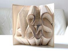Deko-Objekte - Ich & Du ° gefaltetes Buch - ein Designerstück von KlausUndSo bei DaWanda