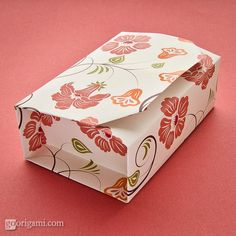 Origami Box, BoxInABox - make a small orgami box...  I tried this, it does make a nice little box, and storing a few sheets of scrapbook paper would be far more convenient than storing little boxes in case I need to wrap a gift!