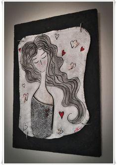 Σεμινάριο Κοπέλα με καρδιές από πηλό σε ξύλο (1η από 2 συναντήσεις) από το Εργαστήρι Μορφές Ceramic Mask, My Plate, Air Dry Clay, Clay Creations, Clay Art, Easy Drawings, Art Sketches, Polymer Clay, Diy And Crafts