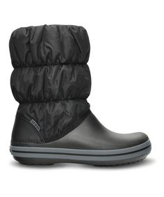 Take a look at this Black & Charcoal Winter Puff Boot - Women by Crocs on #zulily today!