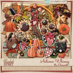 Autumn Whimsy – the Elements #plaindigitalwrapper #pdw #digitalscrapbook #scrapbook #digitalart #KimberlyStewart #Autumn #fall #elements