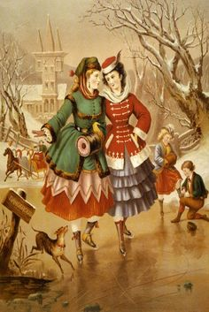 Late 1860s skating dress - fashion plate/illustration